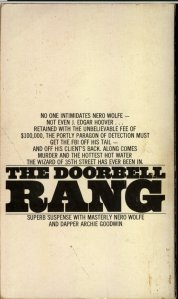The Doorbell Rang - October 1971 - Third Printing - Back Cover